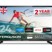 "FERGUSON 12v 24"" INCH TV LED SMART FREEVIEW HD WIFI HDMi USB1080i CARAVAN TV"