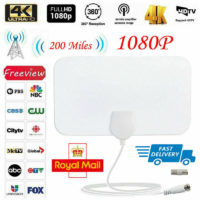 UK 200 Mile Antenna TV Digital HD Skywire 4K Antena Digital Indoor HDTV 1080p