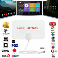 200 Mile Range HDTV Indoor TV Antenna Aerial Mini HD 4K Digital DVB-T2 1080P UK