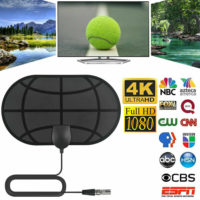 980 Mile Indoor TV Antenna Aerial Freeview Digital 4K HDTV Signal Booster Surf
