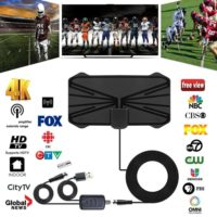 4K 980 Miles Thin Indoor Digital TV Antenna HDTV Signal Amplified Aerial W