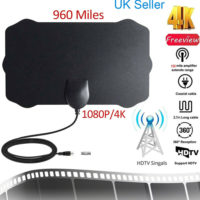 960 Mile 4K Thin Freeview Indoor Amplified Digital TV Aerial HDTV Antenna