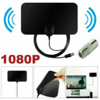 Indoor Digital TV Ariel Ultra-Thin HD Television Antenna 200Miles Range Receiver