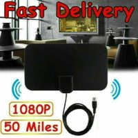 Indoor Ultra-Thin Digital TV Ariel HD Television Antenna 50 Miles Range Receiver