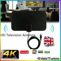 Indoor Digital TV Antenna Aerial Signal Amplified Thin 1080HD Freeview channels