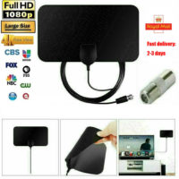 HDTV Digital TV Antenna Indoor Aerial HD Freeview Signal Thin 300 Mile UK Seller