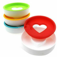 Soap Dish Holder Love Heart Removable Drain Tray Antibacterial Toilet Bathroom