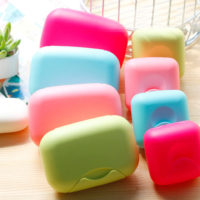 Portable Travel Outdoor Bathroom Shower Soap Dish Box Case Holder Container