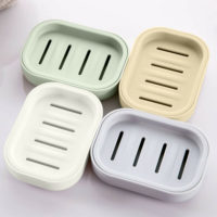 Soap Holder Dish Bathroom Shower Storage Plate Container Box Stand Dishes Home