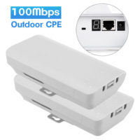2x Wireless Outdoor Bridge 100Mbps Access Point AP Repeater with Digital Display