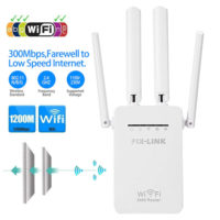 WiFi Extender Signal Booster 4 External Antennas Fast Speed Wi-Fi Repeater