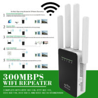 300Mbps WIFI Router Repeater Booster Extender 2Ports sky Q antenna Wireless-N UK