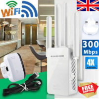 Dual-Band Wifi Extender Repeater Wireless Router Range Network Signal Booster UK