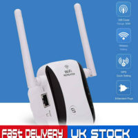 WiFi Signal Extender Range Booster Internet Network Amplifier Repeater UK