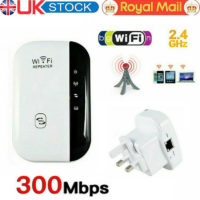 WiFi Signal Repeater Extender Range Booster Internet Network Amplifier - UK Plug