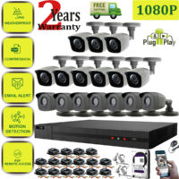 4/8/16CH 1080P CCTV DVR Bullet Camera NightVision Video Home Security System Kit