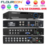 FLOUREON 4/8/16 Channel 1080N AHD DVR 5-in-1 CCTV Security Video Recorder HDMI