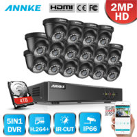 ANNKE CCTV Outdoor System 1080P Lite H.264+ DVR Night Vision Camera Security Kit