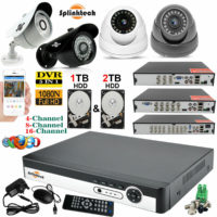 4CH 8CH 16CH 1TB HDD 1080p CCTV DVR Outdoor Camera Home Security CCTV System Kit
