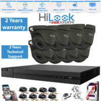 Hikvision Hilook CCTV System Kit 4CH 8CH 16CH DVR 2MP Turret Camera Day/Night UK