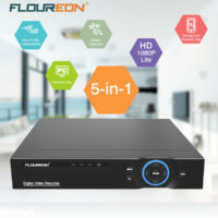 FLOUREON 16 CH 5in1 HD-AHD 1080N Video Recorder DVR for CCTV Security System Set