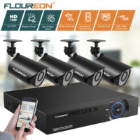 FLOUREON 8CH/4CH 1080N 5IN1 Digital DVR 720P Security Camera CCTV System Kit UK