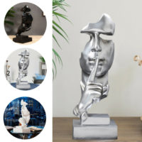 31cm Tall Modern Art Abstract Thinker Sculpture Statue Figurine Head Ornament