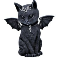 Malpuss Winged Occult Vampire Bat Cat Figurine Gothic Ornament Statue NEW IN