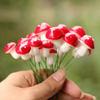 Mushroom Fairy Garden Miniature Accessories Foam Crafts Micro Outdoor Landscape