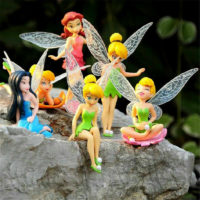 6Pcs Miniature Pixie Flower Fairy Figurine Dollhouse Beautiful Garden Decor Toy