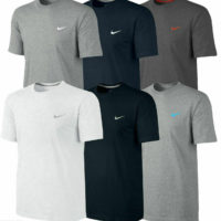 Nike Mens T Shirt k Crew Neck Sports -Logo Tee