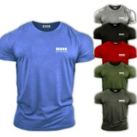Mens Gym T Shirt Bodybuilding Top Workout Clothing BEBAK Training GYM Clothing