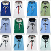 Men's Plain Cotton Easy Care Short sleeve Shirt Button Down Collar Formal Casual