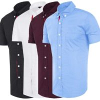 Mens Short Sleeve Shirts Casual Formal Slim Fit Shirt Top M L XL XXL PS18