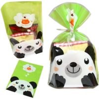 Cute Panda Print Cellophane Cookie Bags! Sweets Biscuits Confectionery Cartoon