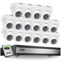 ZOSI CCTV 1080P 16 channel Home Security Cameras System HD Indoor/Outdoor +2TB