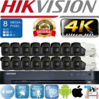 HIKVISION SYSTEM 4K 8MP CCTV HDTVI BNC CAMERA 3.6MM LENS 60M EXIR NIGHT VISION