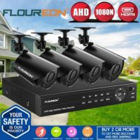 4CH 5IN1 1080N AHD HDMI DVR Outdoor 1500TVL Camera Home CCTV Security System Kit