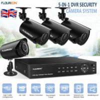 4CH 5IN1 HD-AHD 1080P DVR CCTV Camera Home Security System Kit Outdoor IR Night
