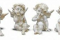 Set of 4 Stone 5 cm Angels Figurines Home Decor Gift