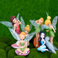 6pcs Flower Pixie Fairy Miniature Figurine Garden Ornament Indoor Yard Decor UK
