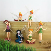 UK 6pcs Flower Pixie Fairy Miniature Figurine Garden Ornament Indoor Yard Decor