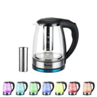 1.8L Rainbow 7 Colours LED Illuminated Electric Glass Kettle Cordless 2200W Jug