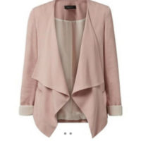 New Look Pink Waterfall Blazer - Size 8 - Work Business