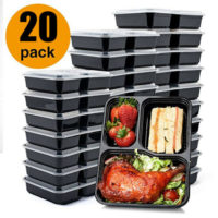 20x Plastic Quality Containers Boxes Tubs with Lids Microwave Food Safe Takeaway