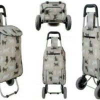 SPECIAL OFFER Large Shopping Trolley Folding Wheelie 2 Wheeled Bag Cat Print