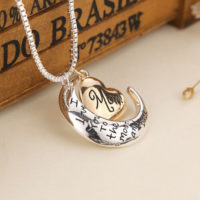 MUM 'I LOVE YOU TO THE MOON AND BACK' Pendant Necklace with Gift pouch