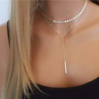 Pendant Chain Choker Silver Coin Layered Statement Bib Necklace Jewelry Charm