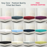 Full Fitted Sheet Bed Sheets 100% Poly Cotton Single Double King Super King Size