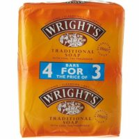 Wrights Coal Tar Soap 125g Bars Traditional Antiseptic Soap